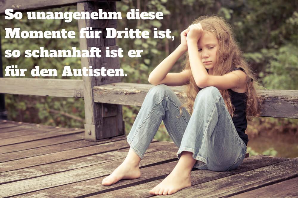autistisches Mädchen nach dem Meltdown